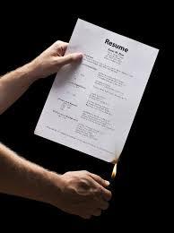 burning resume