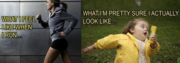 how i look when i run